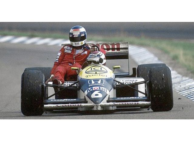Williams Honda FW11, German 1986, K.Rosberg riding on N.Piquet