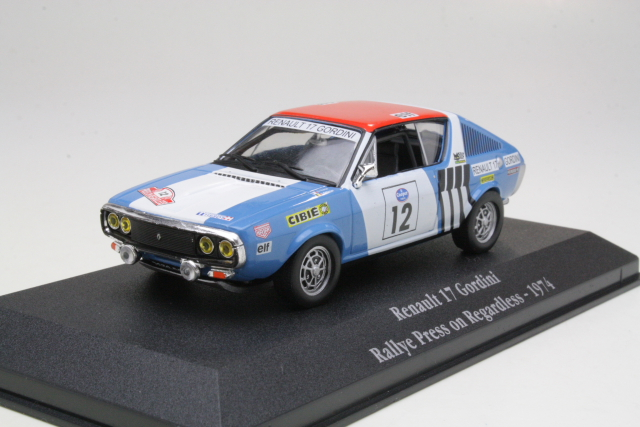Renault 17 Gordini, Press on Regardless 1974, J.L.Therier, no.12