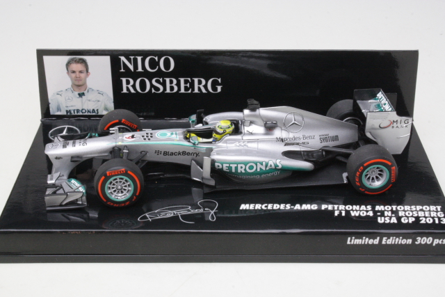Mercedes AMG W04, USA GP 2013, N.Rosberg, no.9
