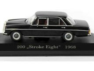 "Mercedes 200 (w115) 1968, musta ""Stroke Eight"""