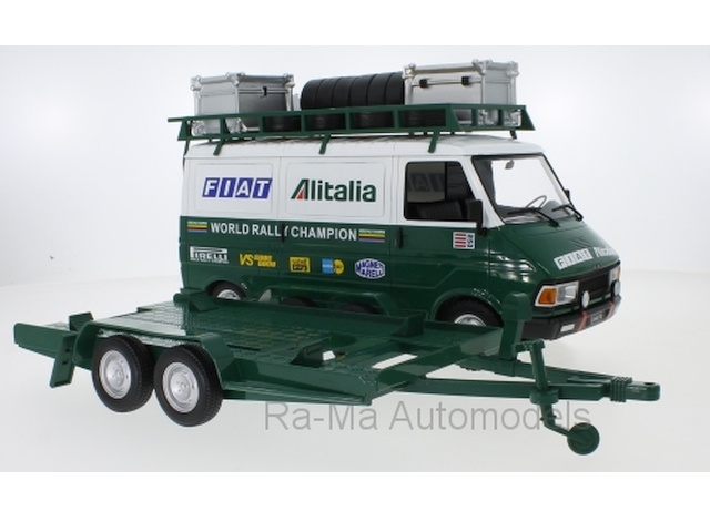 "Fiat 242 1979 ""Fiat Alitalia Rally Team"" + traileri"