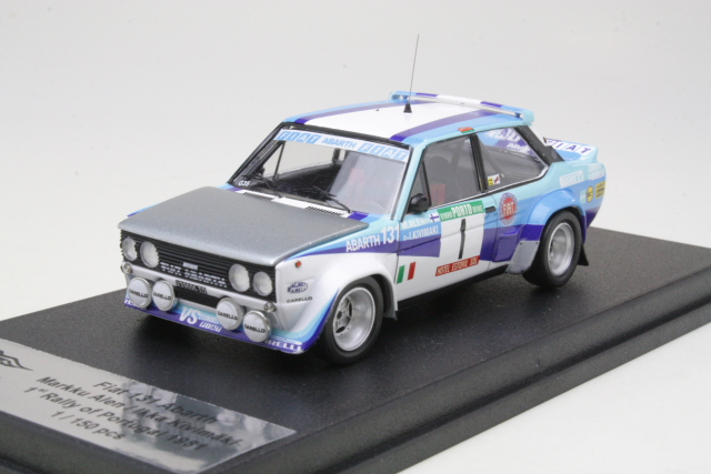 Fiat 131 Abarth, 1st. Portugal 1981, M.Alen, no.1