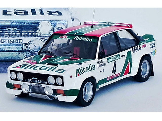 "Fiat 131 Abarth, 1st. Portugal 1978, M.Alen, no.4 ""crashed"""