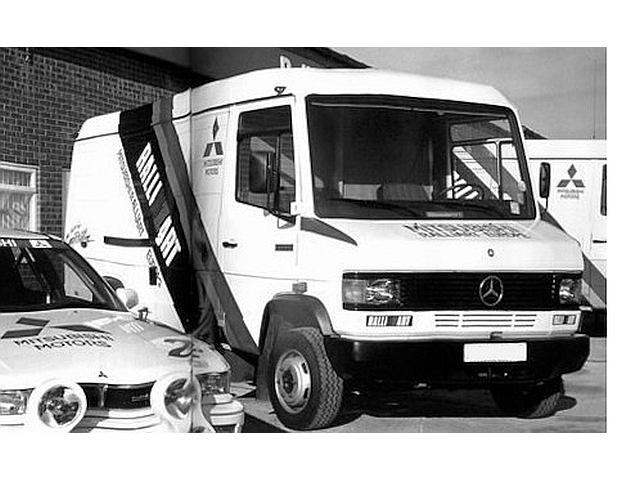"Mercedes 609D 1990 ""Mitsubishi RalliArt Europe"""